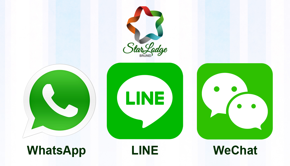 Connect with us via Mobile: WhatsApp, Line & WeChat!